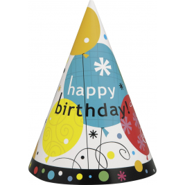 Breezy Birthday Party Hats (8pk)
