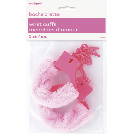 BRIDE TO BE PINK  FUR WRIST CUFFS GIRLS NIGHT OUT. 6 PK
