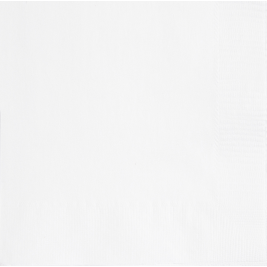 BRIGHT WHITE LUNCHEON NAPKINS - Pack of 20