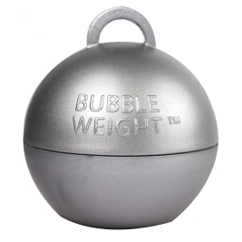 49mm x 45mm Plastic Bubble Balloon weights 35g - Silver