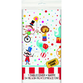 Circus Carnival Plastic Tablecover 54