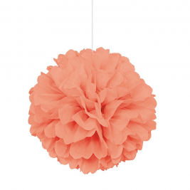 Coral Tissue Puff Decorations 16