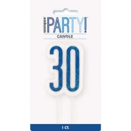 Giltter 30th BIRTHDAY Candles Set