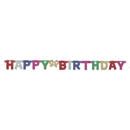 DELUXE GLITTER HAPPY BIRTHDAY JOINTED BANNER