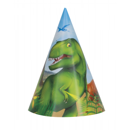 Dinosaur Party Hats (8pk)