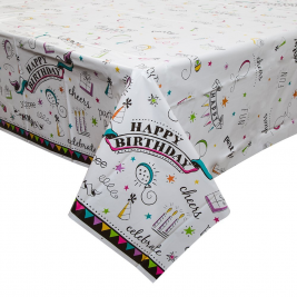 Doodle Plastic Tablecover 54