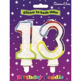 Double Sided Multi Coloured Candle 13