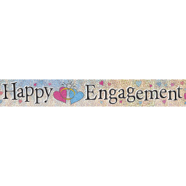 HAPPY ENGAGEMENT PRISMATIC BANNER 12 FT