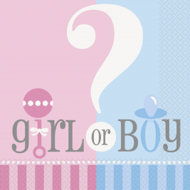 Gender Reveal LUNCHEON NAPKINS - Pack of 20