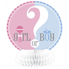 Gender Reveal MINI HONEYCOMB DECORATIONS 6