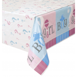Gender Reveal PLASTIC TABLECOVER 54