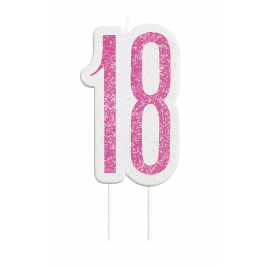 Giltter 18th BIRTHDAY Candles Set