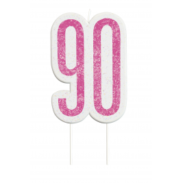 Giltter 90th BIRTHDAY Candles Set