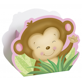 Girl  Monkey Baby Shower FAVOR BOXES - pack of 8