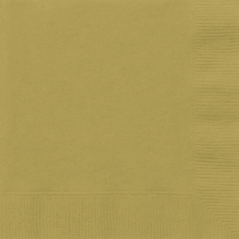 GOLD LUNCHEON NAPKINS - Pack of 50