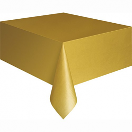 GOLD PLASTIC TABLECOVERS 54