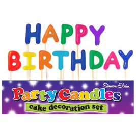 Happy Birthday Colorful Pick Candles