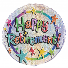 Happy Retirement Round Foil Balloon 18 Inches