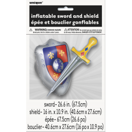 INFLATABLE SWORD AND SHIELD (ONE SET)