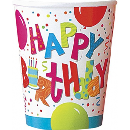 Happy  Birthday Jamboree  9 OZ. CUPS - pack of 8