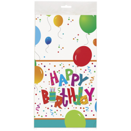 Happy  Birthday Jamboree  PLASTIC TABLECOVER 54
