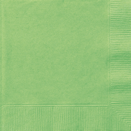 LIME GREEN  LUNCHEON NAPKINS - Pack of 20