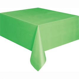 LIME GREEN PLASTIC TABLECOVERS 54