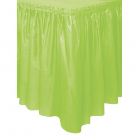 Lime Green Plastic Tableskirts 14ft x 29
