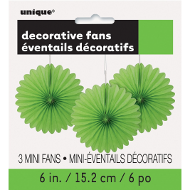 lime green DECORATIVE  FANS