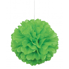 lime green PUFF DECOR