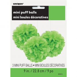 Lime Green Tissue Puff Decorations 9