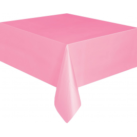 LOVELY PINK  PLASTIC TABLECOVERS 54
