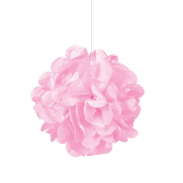 Lovely Pink Tissue Puff Decorations 9