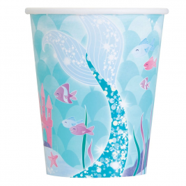 Mermaid Cups 9oz (8pk)