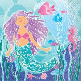 Mermaid Luncheon Napkins (16pk)