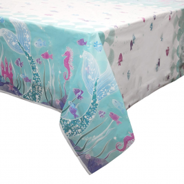 Mermaid Plastic Tablecover 54