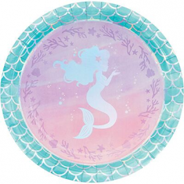 Mermaid Shine Dinner Plate Iridescent Pack of 8