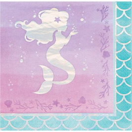 Mermaid Shine Iridescent Luncheon Napkins Pack of 16