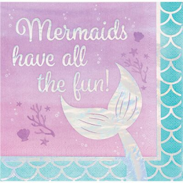 Mermaid Shine Luncheon Napkin Iridescent All The Fun