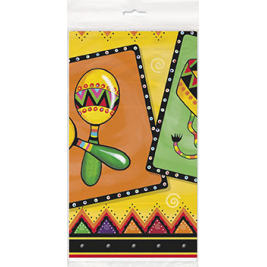 Plastic Mexican Party Tablecloth, 7ft x 4.5ft