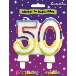 Milestone Birthday Candle - Number 50
