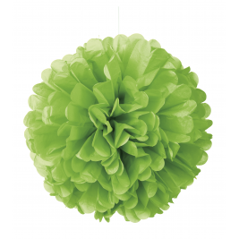 16 Inch Neon Lime Green Solid Hanging Tissue Pom Pom