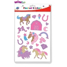 Ponies Flocked Stickers  Assorted Stickers
