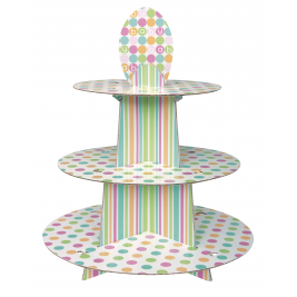 Pastel Baby Shower Cupcake Stand