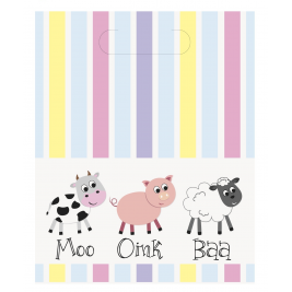Farm Animals Loot Bags (8pk)
