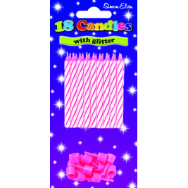 Spiral Birthday Cake Candles (Pack of 18) - Pink