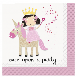 Pink Princess & Unicorn Luncheon Napkins (16pk)