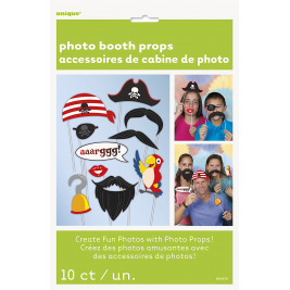 Pirate Photo Booth Props, Pack of 10