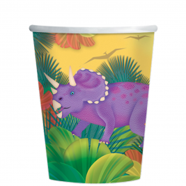 Prehistoric Party Paper Cups 266ml - 12 PK