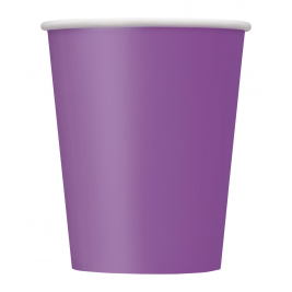 PRETTY PURPLE Paper Tableware- 9 OZ. CUPS - Pack of 14